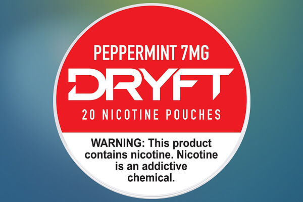 Dryft Peppermint 7mg Nicotine Pouches