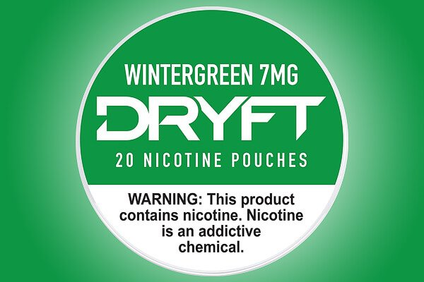 Dryft Wintergreen 7mg Nicotine Pouches