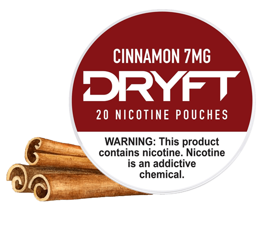 Dryft Cinnamon 7mg Nicotine Pouches