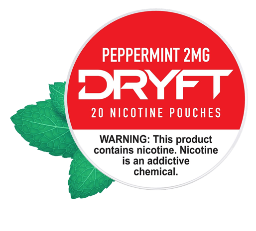 Dryft Peppermint 2mg Nicotine Pouches