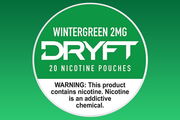 Dryft Wintergreen 2mg Nicotine Pouches