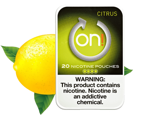 On! Citrus 4mg Nicotine Pouches