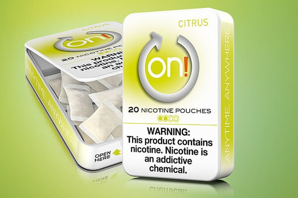 On! Citrus 2mg Nicotine Pouches