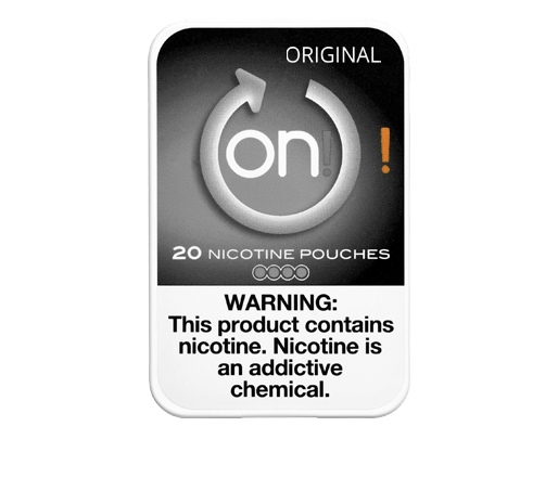 on! Original 4mg Nicotine Pouches