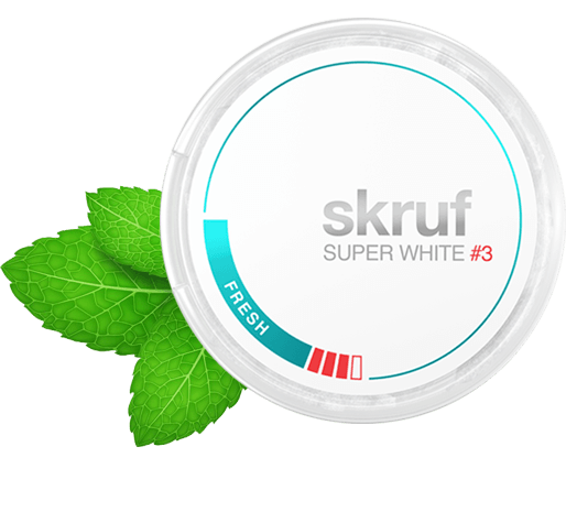 Skruf Super White Fresh #3 Nicotine Pouches