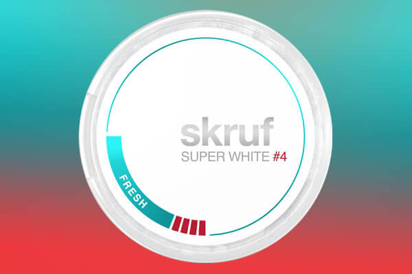 Skruf Super White Slim Fresh#4 Nicotine Pouches
